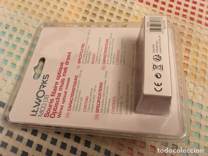 Segunda Mano: RATON OPTICO MOUSE I.T WORKS MCO 08 1000 DPI 145 CM CABLE USB NUEVO KREATEN - Foto 2 - 195141191