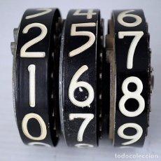 Segunda Mano: 3 RUEDAS NUMÉRICAS DE ANTIGUO SURTIDOR DE GASOLINA. Lote 195644733