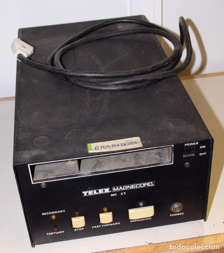 GRABADORA TELEX MAGNECORD MC II PARA CARTUCHOS DE CINTA (Segunda Mano - Artículos de electrónica)