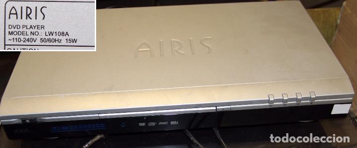 REPRODUCTOR DVD AIRIS DVD PLAYER LW108A (Segunda Mano - Artículos de electrónica)