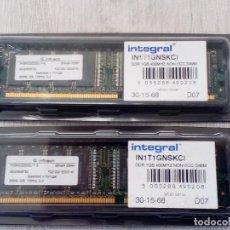 Segunda Mano: 2 MÓDULOS DE MEMORIA RAM DDR. Lote 197346661