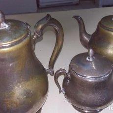 Segunda Mano: JUEGO DE CAFE DE LATÓN, CAFETERA, LECHERA Y AZUCARERO. Lote 197383778