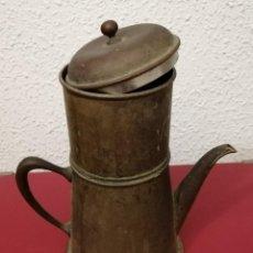 Seconda Mano: CAFETERA DE COBRE. Lote 197463916