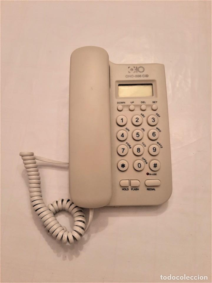 TELÉFONO DE MESA Y PARED 2 EN 1 OHO-806CID PANTALLA FLASH REDIAL IDENTIFICACIÓN (Segunda Mano - Otros)