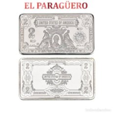 Segunda Mano: LINGOTE DE 2 DOLARES PLATA DE 32 GRA ( PRESIDENTE JAMES MADISON DE 1809-1817 )Nº1. Lote 199167443