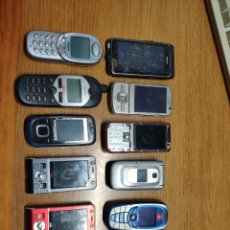 Segunda Mano: LOTE 11 TELÉFONOS MÓVILES TELÉFONO MÓVIL NOKIA SIEMENS SONY ERICSSON. Lote 199512475