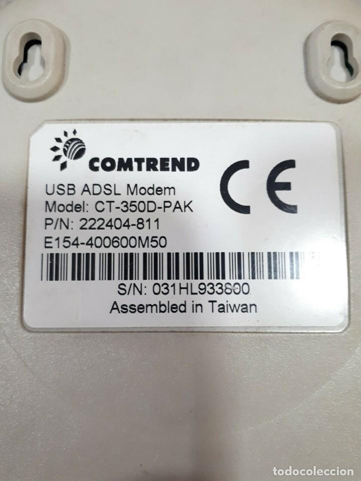 Segunda Mano: MÓDEM ADSL USB COMTREND CT-350D-PAK - Foto 2 - 201977891
