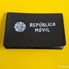 Segunda Mano: TARJETERO REPUBLICA MOVIL TARJETAS CARDS. Lote 202490017