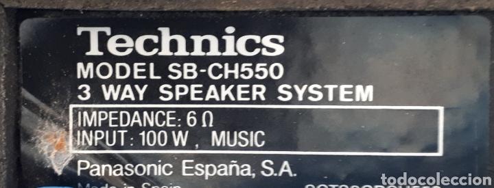 Segunda Mano: ALTAVOZ TECHNICS.COLOR NEGRO.POTENCIA 100 W. MUSICA. - Foto 4 - 205272150