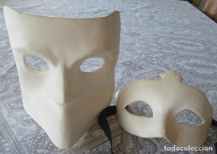 Segunda Mano: Pareja de mascaras venecianas. Originales de Venecia, hechas a mano en papel. - Foto 2 - 205357107