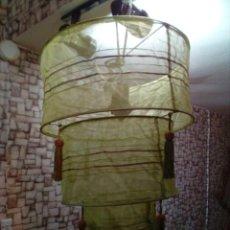 Segunda Mano: LAMPARA DE METAL Y TELA ESTILO ARABE-NUEVA. Lote 205606538