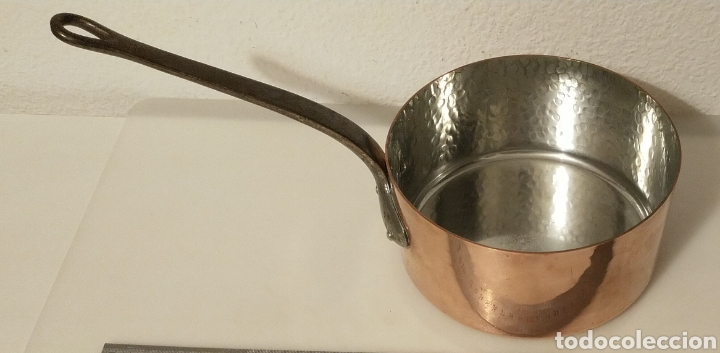 Segunda Mano: Cazo de cobre e interior estañado. Mango de hierro forjado. Francia. D: 20 cm. - Foto 11 - 205740568
