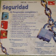 Segunda Mano: PC ACTUAL CD CDT 35 FEBRERO 2003 SEGURIDAD. Lote 205740630