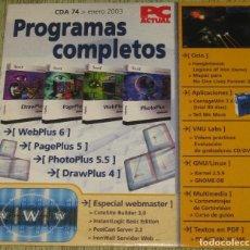 Segunda Mano: PC ACTUAL CD ACTUAL CDA 74 ENERO 2003. Lote 205740848