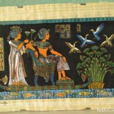 Segunda Mano: PAPIRO ORIGINAL EGIPCIO PASEANDO POR EL RILO NILO, FIRMADO A.K. - 1991. Lote 205847791