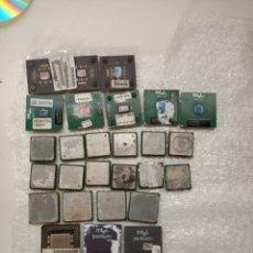 Segunda Mano: LOTE 32 MICROPROCESADORES VIEJOS MMX PENTIUM 1 ETC.... Lote 206278593