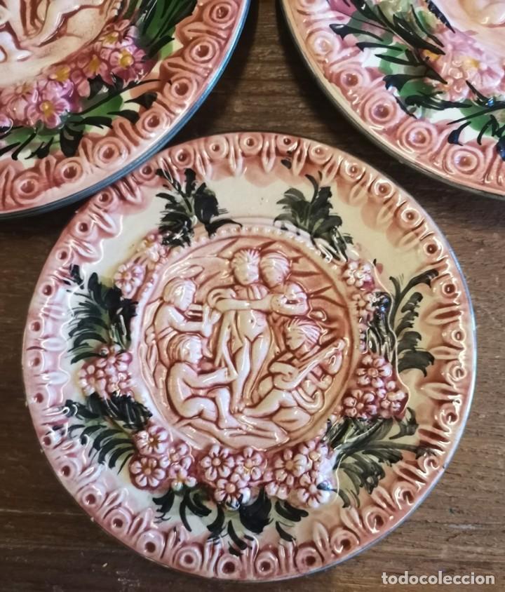 Segunda Mano: Lote 3 Platos Decorativos - Foto 3 - 206390483