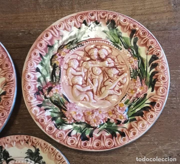 Segunda Mano: Lote 3 Platos Decorativos - Foto 4 - 206390483