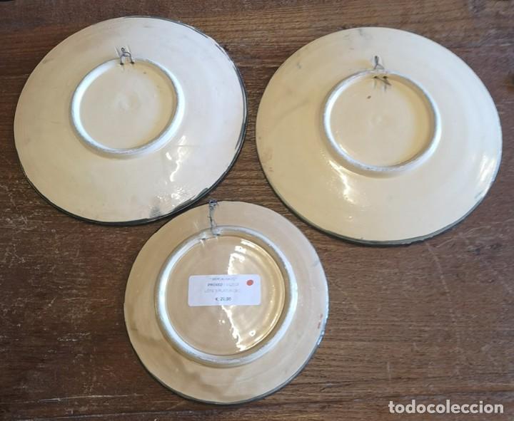 Segunda Mano: Lote 3 Platos Decorativos - Foto 5 - 206390483