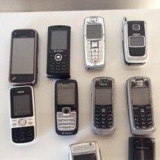 Segunda Mano: LOTE DE 10 TELÉFONOS MÓVILES VARIAS MARCAS. Lote 207048521