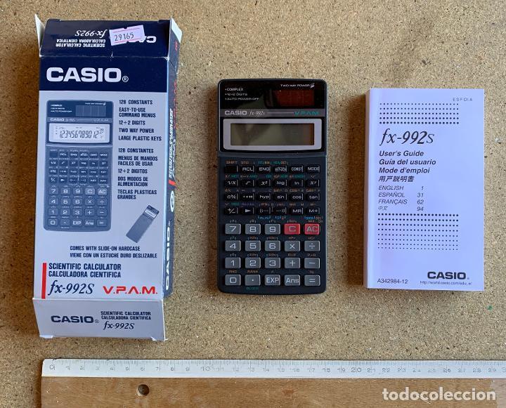 CALCULADORA CASIO FX - 992 S . CON FOLLETO Y CAJA . SIN USO . (Segunda Mano - Artículos de electrónica)