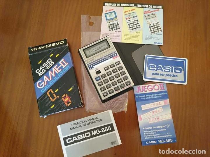 CALCULADORA JUEGO CASIO MG-885 GAME II ELECTRONIC CALCULATOR MADE IN JAPAN COMPLETA SIN USAR AÑOS 80 (Segunda Mano - Artículos de electrónica)