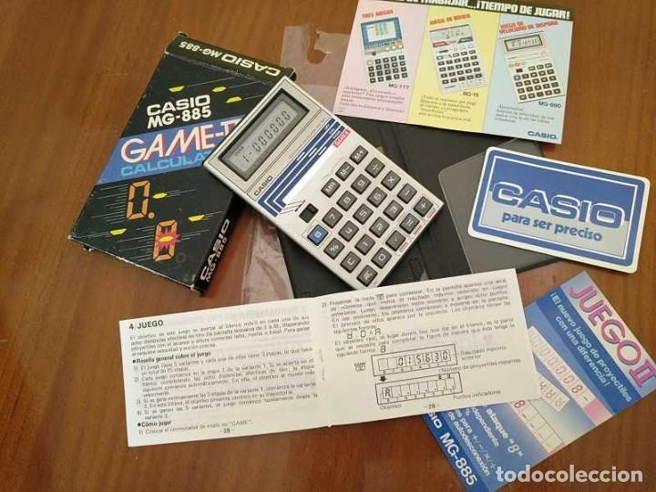 Segunda Mano: CALCULADORA JUEGO CASIO MG-885 GAME II ELECTRONIC CALCULATOR MADE IN JAPAN COMPLETA SIN USAR AÑOS 80 - Foto 3 - 208169318
