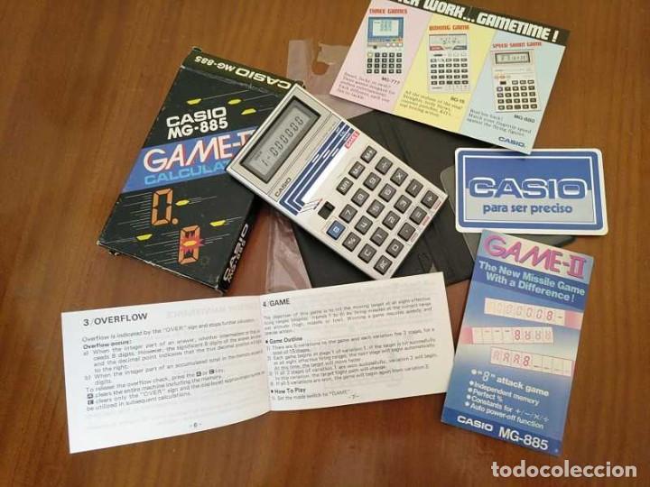 Segunda Mano: CALCULADORA JUEGO CASIO MG-885 GAME II ELECTRONIC CALCULATOR MADE IN JAPAN COMPLETA SIN USAR AÑOS 80 - Foto 4 - 208169318