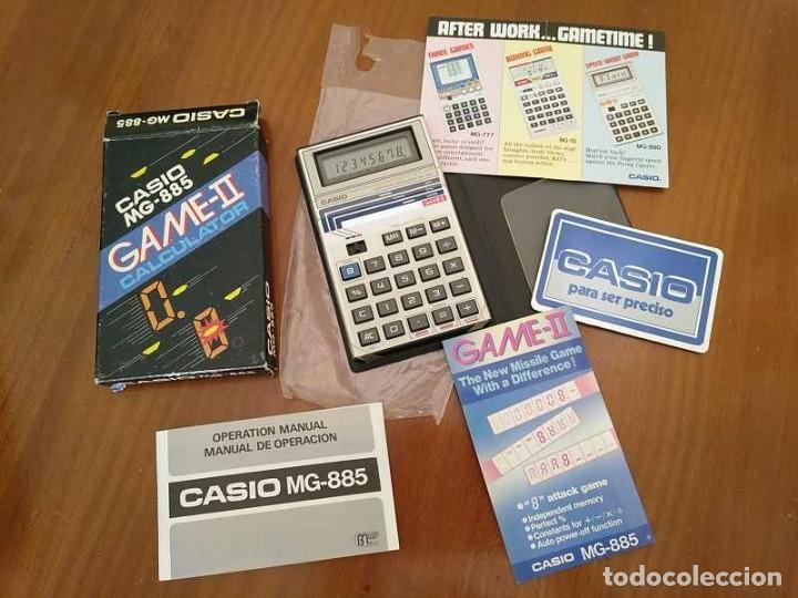 Segunda Mano: CALCULADORA JUEGO CASIO MG-885 GAME II ELECTRONIC CALCULATOR MADE IN JAPAN COMPLETA SIN USAR AÑOS 80 - Foto 13 - 208169318