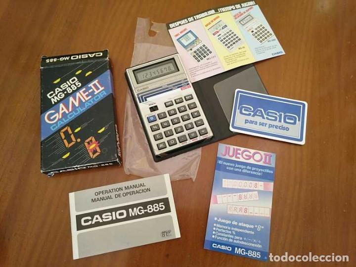 Segunda Mano: CALCULADORA JUEGO CASIO MG-885 GAME II ELECTRONIC CALCULATOR MADE IN JAPAN COMPLETA SIN USAR AÑOS 80 - Foto 47 - 208169318
