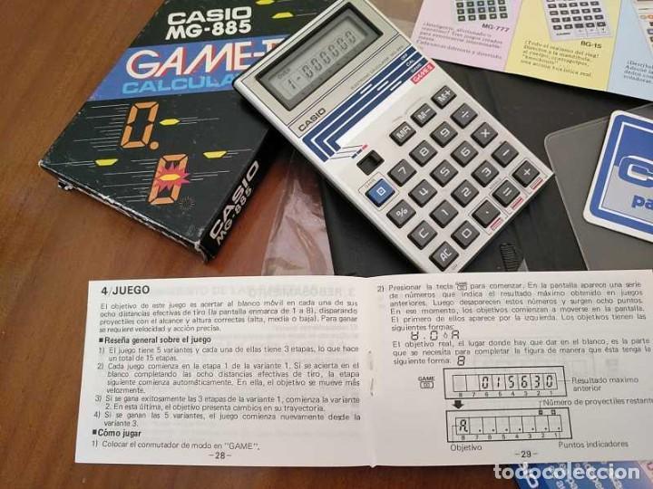 Segunda Mano: CALCULADORA JUEGO CASIO MG-885 GAME II ELECTRONIC CALCULATOR MADE IN JAPAN COMPLETA SIN USAR AÑOS 80 - Foto 78 - 208169318