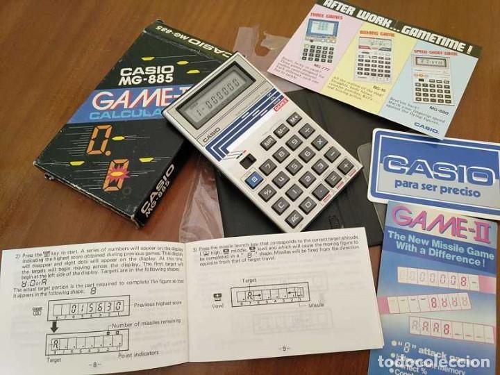 Segunda Mano: CALCULADORA JUEGO CASIO MG-885 GAME II ELECTRONIC CALCULATOR MADE IN JAPAN COMPLETA SIN USAR AÑOS 80 - Foto 82 - 208169318