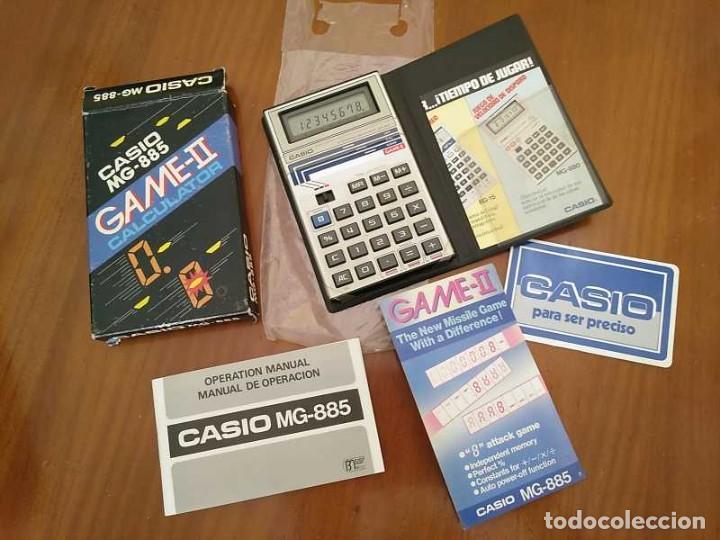 Segunda Mano: CALCULADORA JUEGO CASIO MG-885 GAME II ELECTRONIC CALCULATOR MADE IN JAPAN COMPLETA SIN USAR AÑOS 80 - Foto 121 - 208169318