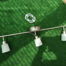 Segunda Mano: LAMPARA DE TECHO 3 FOCOS, ACTUAL, CORRECTA, MODERNA, DECORACION EN ACERO, CALIDAD. Lote 209351622