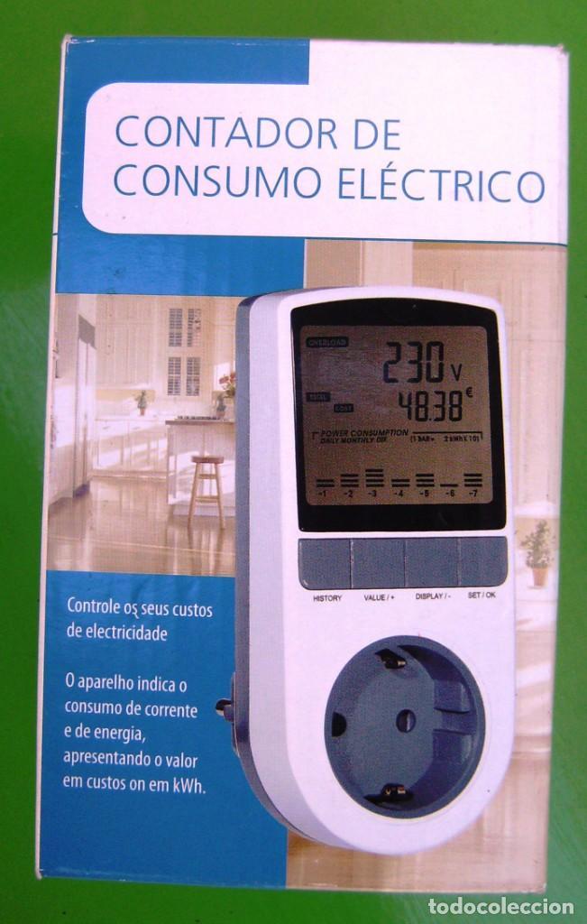 CONTADOR DE CONSUMO ELÉCTRICO. APARATO PARA CALCULAR EL GASTO EN ELECTRICIDAD. NUEVO (Segunda Mano - Artículos de electrónica)