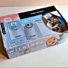 Segunda Mano: PRO BASIC BABY PHONE MONITOR INALAMBRICO DE VIGILANCIA COMO NUEVO EN SU CAJA. Lote 210237503