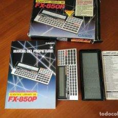 Segunda Mano: CALCULADORA CASIO FX-850P PERSONAL COMPUTER SCIENTIFIC LIBRARY 116 CALCULATOR FX 850 P FX850 P. Lote 211392181