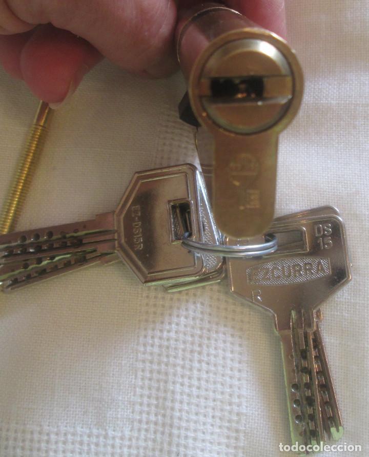 Segunda Mano: Dos cilindros de alta seguridad marca EZCURRA con llaves DS 15 - Foto 3 - 211829346