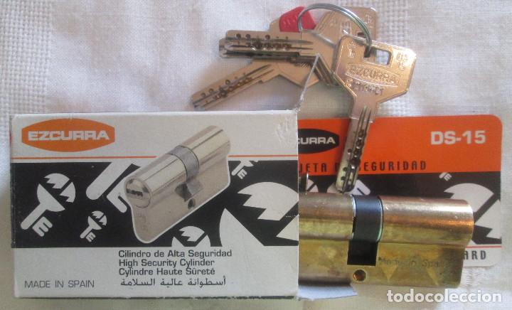 Segunda Mano: Dos cilindros de alta seguridad marca EZCURRA con llaves DS 15 - Foto 5 - 211829346
