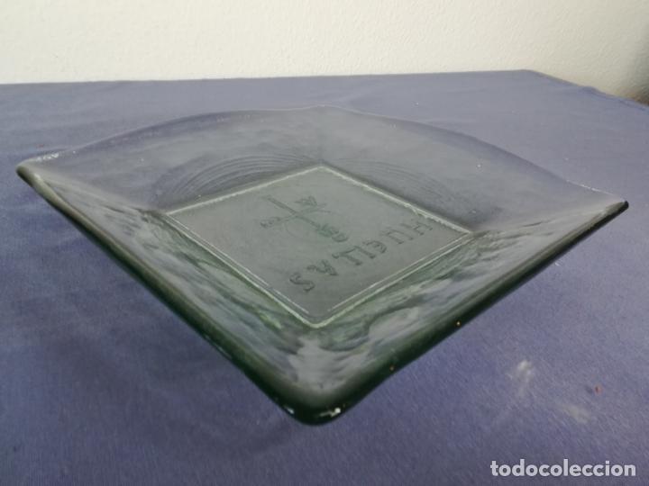 Segunda Mano: Plato cuadrado de vidrio - Huellas - 25 x 25 cm, peso 1800 gr - Foto 3 - 212208415