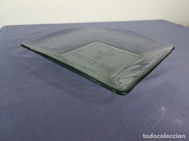 Segunda Mano: Plato cuadrado de vidrio - Huellas - 25 x 25 cm, peso 1800 gr - Foto 4 - 212208415
