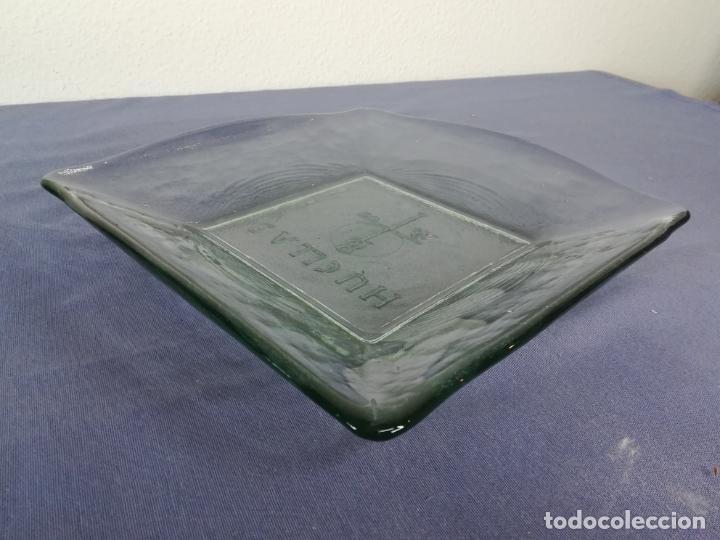 Segunda Mano: Plato cuadrado de vidrio - Huellas - 25 x 25 cm, peso 1800 gr - Foto 5 - 212208415