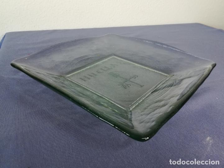 Segunda Mano: Plato cuadrado de vidrio - Huellas - 25 x 25 cm, peso 1800 gr - Foto 6 - 212208415