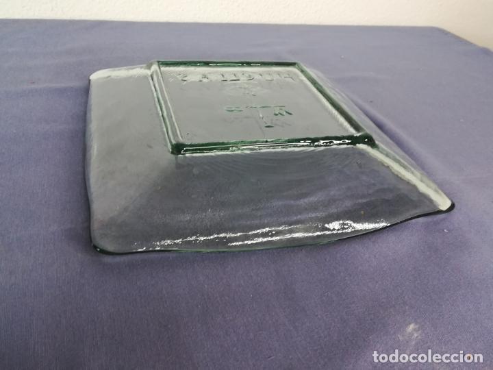 Segunda Mano: Plato cuadrado de vidrio - Huellas - 25 x 25 cm, peso 1800 gr - Foto 9 - 212208415