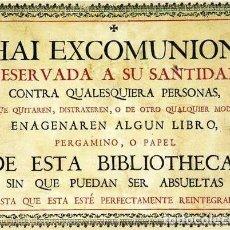 Segunda Mano: TABLILLA PARA BIBLIOTECA DE EXCOMUNION PAPAL TABLA DE 2 CM DE GROSOSR 18 X 24 CM APROX PARA COLGAR. Lote 214562275
