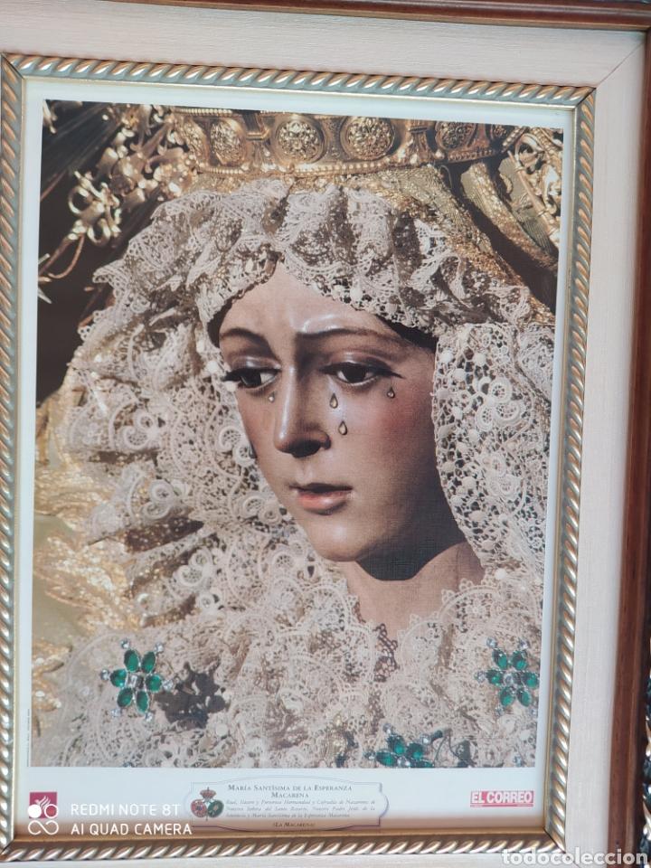 Segunda Mano: CUADRO DE LA VIRGEN ESPERANZA MACARENA DE SEVILLA - Foto 2 - 215665451