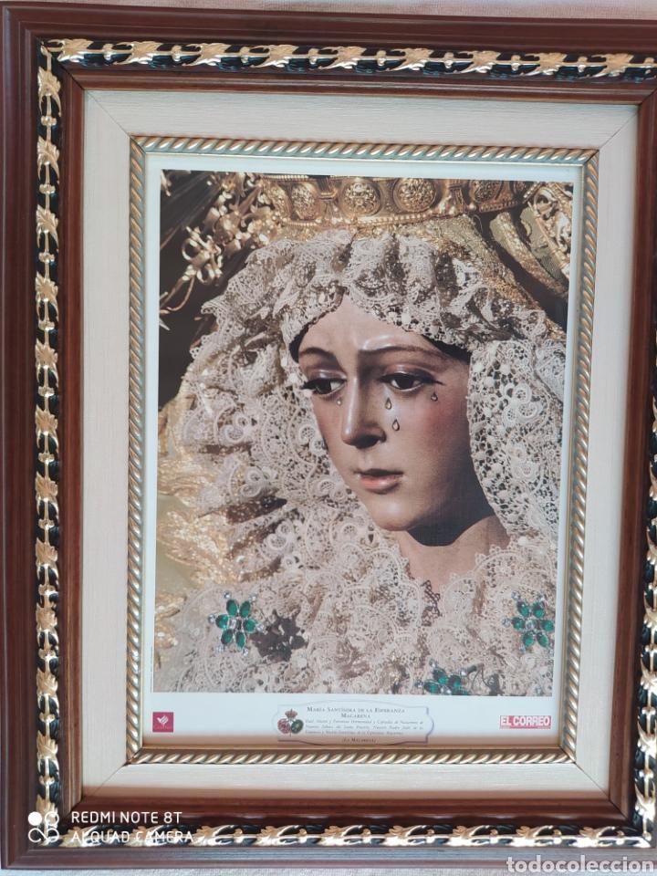 Segunda Mano: CUADRO DE LA VIRGEN ESPERANZA MACARENA DE SEVILLA - Foto 3 - 215665451
