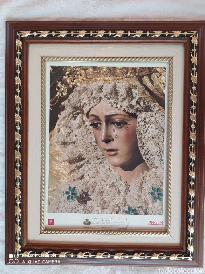 CUADRO DE LA VIRGEN ESPERANZA MACARENA DE SEVILLA (Segunda Mano - Hogar y decoración)