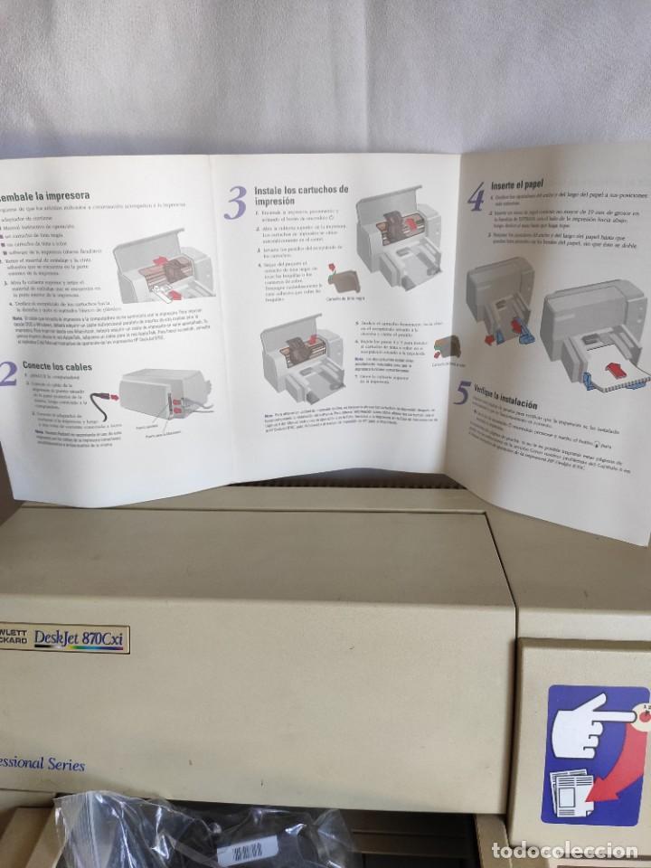 Segunda Mano: Impresora serie profesional HP. Deskjet 870 Cxi - Foto 5 - 216358648