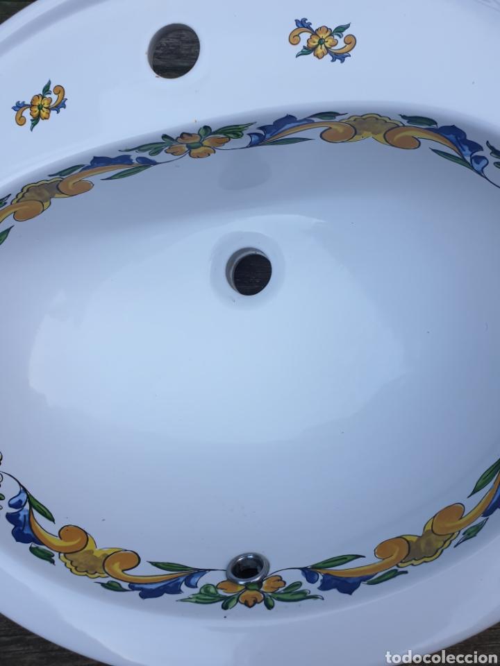 Segunda Mano: Lavabo porcelana Valadares decorado - Foto 2 - 218145417